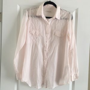 Soft and pale pink blouse